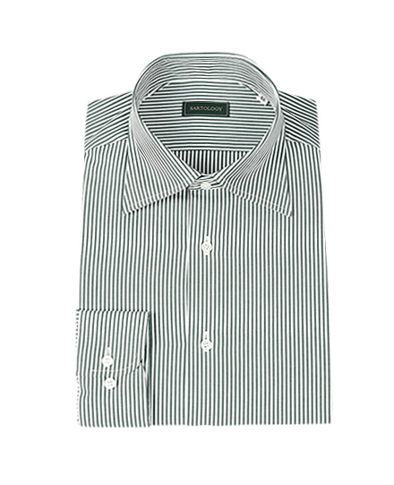 SHIRTSEXCLUSIVE DARK GREEN STRIPE