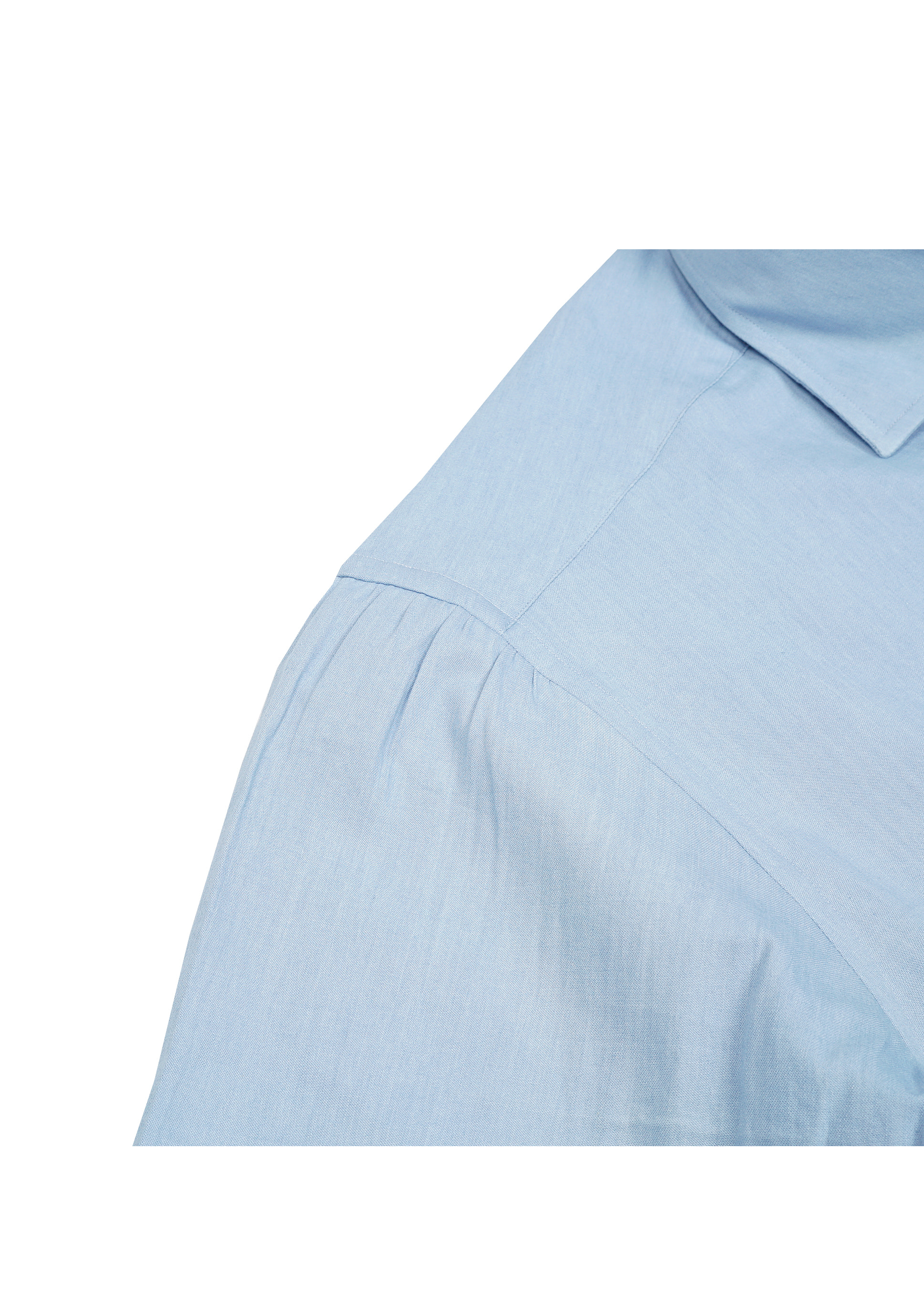 SHIRTSCHAMBRAY LIGHT BLUE + SHIRRING